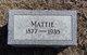 Mattie <I>Martens</I> Lang