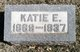 "Catharine E ""Katie or Kate"" <I>Ganzer</I> Bottiger"