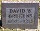 Profile photo:  David W Brokens