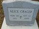 Profile photo:  Alice Crager