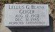 Lellus G. <I>Blank</I> Geiger