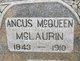 Profile photo:  Angus McQueen McLaurin