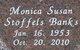 """Monica Susan """"Sue"""" <I>Stoffels</I> Banks"""