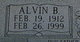 "Profile photo:  Alvin B. ""Buron"" Allen"