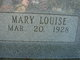 "Profile photo:  Mary Louise ""Louise"" <I>Robberson</I> Bunting"