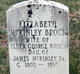 Profile photo:  Elizabeth <I>McKinley</I> Brock