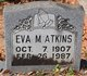 Profile photo:  Eva Belle <I>Moorer</I> Atkins