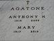 Profile photo:  Mary <I>Medaglia</I> Agatone
