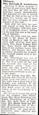 Gertrude R <I>Ward</I> Waterhouse