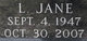 "Profile photo:  Lillian Jane ""Jane"" <I>Smith</I> Adkins"