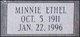 Profile photo:  Minnie Ethel <I>Griffitt</I> Webster