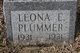 Profile photo:  Leona E. Plummer