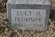 Profile photo:  Lucy H. <I>lewis</I> Plummer