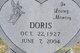 Doris Fay <I>Fain</I> Nelson