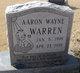 Profile photo:  Aaron Wayne Warren