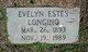 Profile photo:  Evelyn <I>Estes</I> Longino