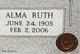 Profile photo:  Alma Ruth <I>Todd</I> McIver