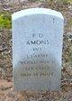 Pvt P. D. Amon