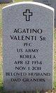 Profile photo:  Agatino Valenti, Sr