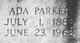 Profile photo:  Ada <I>Parker</I> Harris