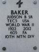 Profile photo:  Judson Benton Baker, Sr