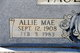 Profile photo:  Allie Mae <I>Melton</I> Faulkner