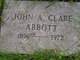 Profile photo:  John Alexander Clare Abbott