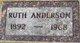 Ruth Ena <I>Anderson</I> Anderson
