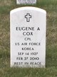 Corp Eugene A. Cox