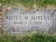 Profile photo:  Agnes M. Ahrens