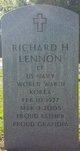 Profile photo:  Richard H Lennon