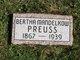Bertha Margaret <I>Mandelkow</I> Preuss