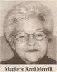 Marjorie <I>Reed</I> Merrill