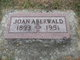 Profile photo:  Joan Aberwald