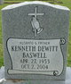 Profile photo:  Kenneth Dewitt Baswell