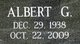 "Profile photo:  Albert George ""Bert"" Coulter"