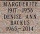Profile photo:  Denise Ann Backus