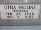 "Mrs Otha Pauline ""Polly"" <I>Whitfield</I> Barker"