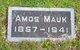 Profile photo:  Amos Mauk