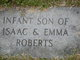 Infant son 2 Roberts
