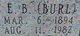 "Profile photo:  Emmitt Burleson ""Burl"" Bush"
