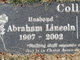 Profile photo:  Abraham Lincoln Collins