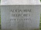 Profile photo:  Adda Mae Belford
