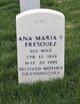 Profile photo:  Ana Maria <I>Valencia</I> Fresquez