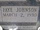 Profile photo:  Faye <I>Johnson</I> Anderson