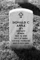 Profile photo:  Donald C Apple, Sr