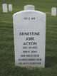 Profile photo:  Ernestine <I>Jobe</I> Acton