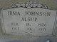 Profile photo:  Irma D. <I>Johnson</I> Alsup