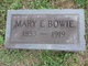 Mary E Bowie