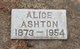 Profile photo:  Alice <I>Dimmick</I> Ashton